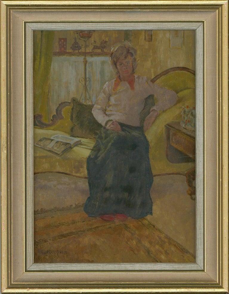 Paddy Curzon-Price (1922-2017) - A Pair of 20th Century Oil Portraits of Women - Painting by Paddy Curzon-Price