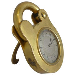 Padlock Clock by Howell James, Boxed