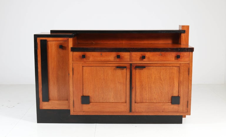 Magnificent and rare Art Deco Haagse School sideboard or credenza.