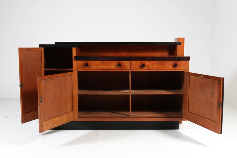 Indonesian Padouk Art Deco Haagse School Sideboard by Toko v/d Pol Semarang, 1920s For Sale