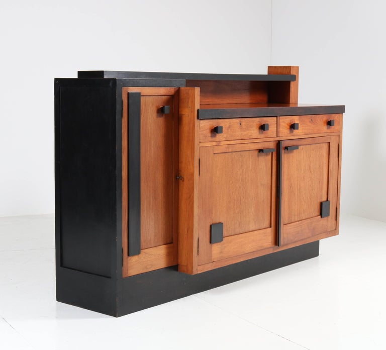 Early 20th Century Padouk Art Deco Haagse School Sideboard by Toko v/d Pol Semarang, 1920s For Sale