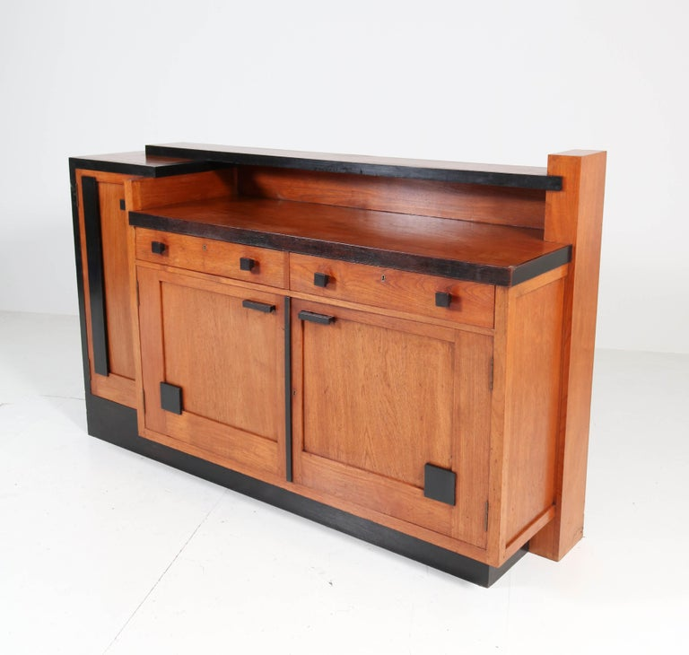 Padouk Art Deco Haagse School Sideboard by Toko v/d Pol Semarang, 1920s For Sale 1