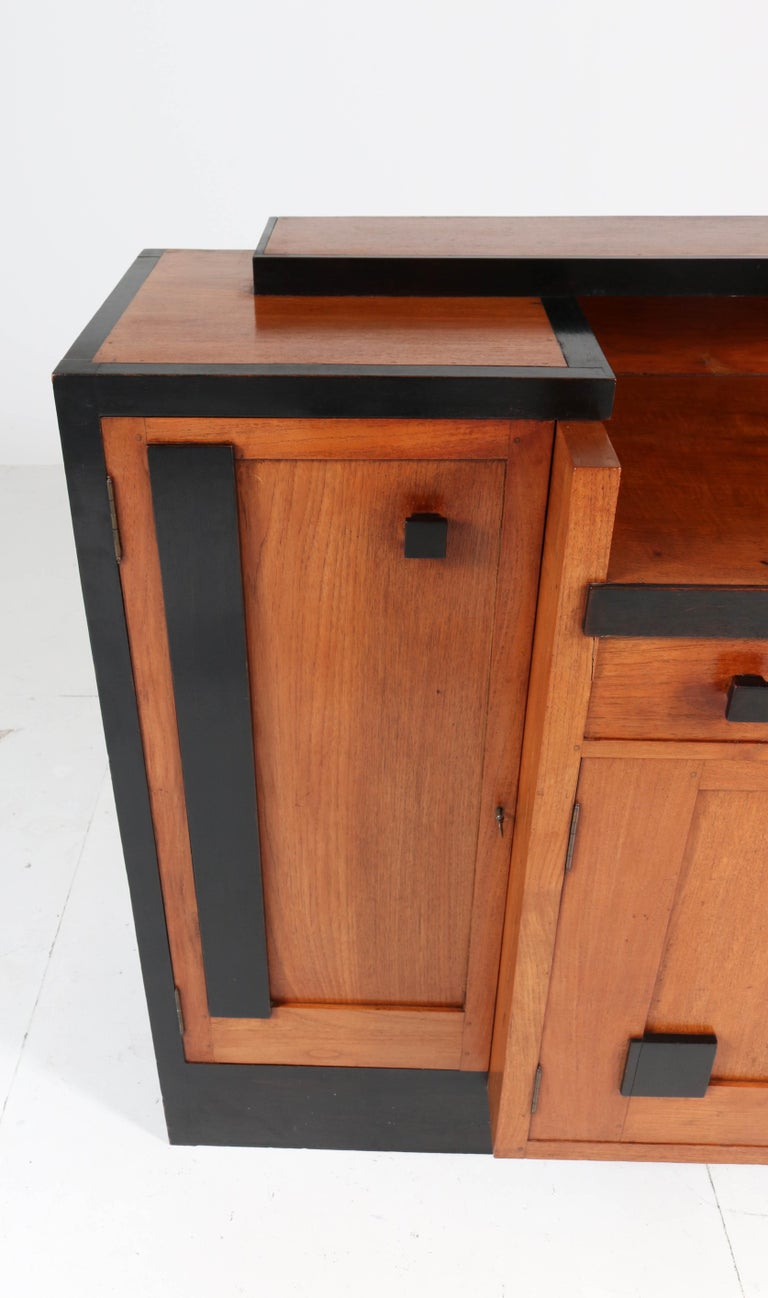 Padouk Art Deco Haagse School Sideboard by Toko v/d Pol Semarang, 1920s For Sale 2