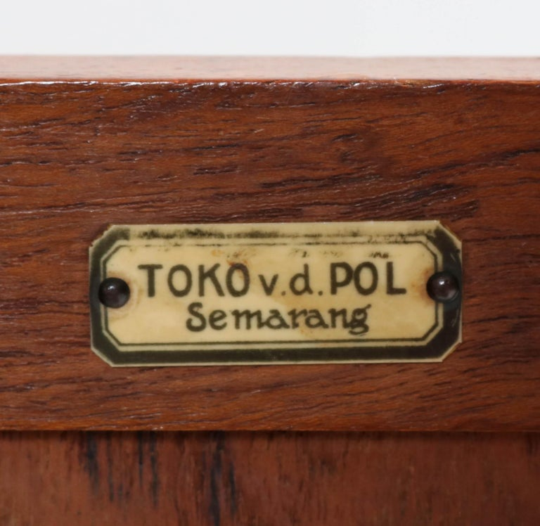 Padouk Art Deco Haagse School Sideboard by Toko v/d Pol Semarang, 1920s For Sale 3