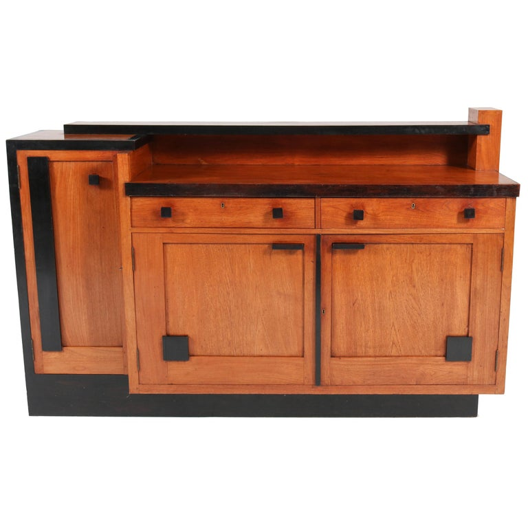 Padouk Art Deco Haagse School Sideboard by Toko v/d Pol Semarang, 1920s For Sale