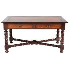 Padouk Jacobean Style Writing Table, 1880s