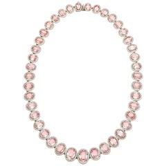 Padparadscha Sapphire Necklace, 58.31 Carat