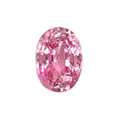 Padparadscha Sapphire Ring Gem 2.32 Carat Oval Loose Gemstone GIA Certified