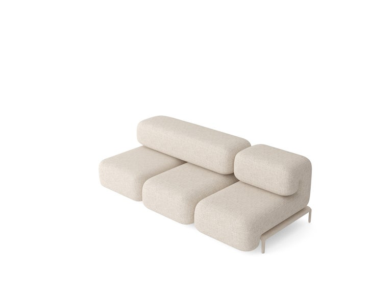 Padun sofa Set 1 by Faina Design: Victoriya Yakusha Materials: : textile, Foam rubber, Sintepon, Wood  Dimensions: 240 x 115 x H 90 cm  In search of new-old design messages, Victoria Yakusha conducted a study of the daily traditions of our