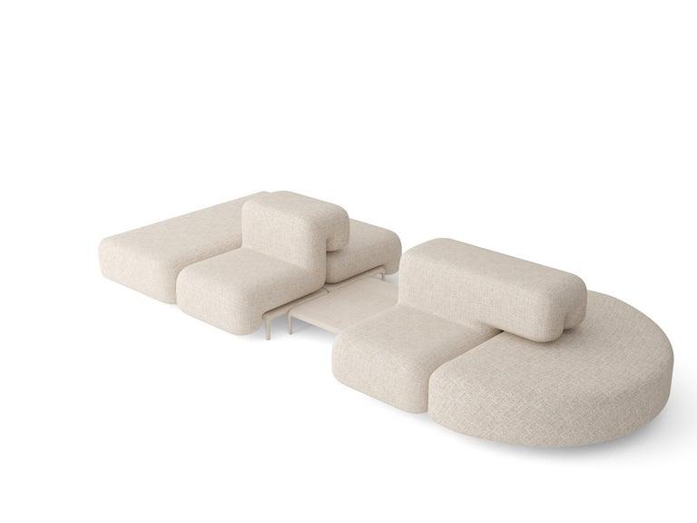 Textile Padun Sofa by FAINA For Sale