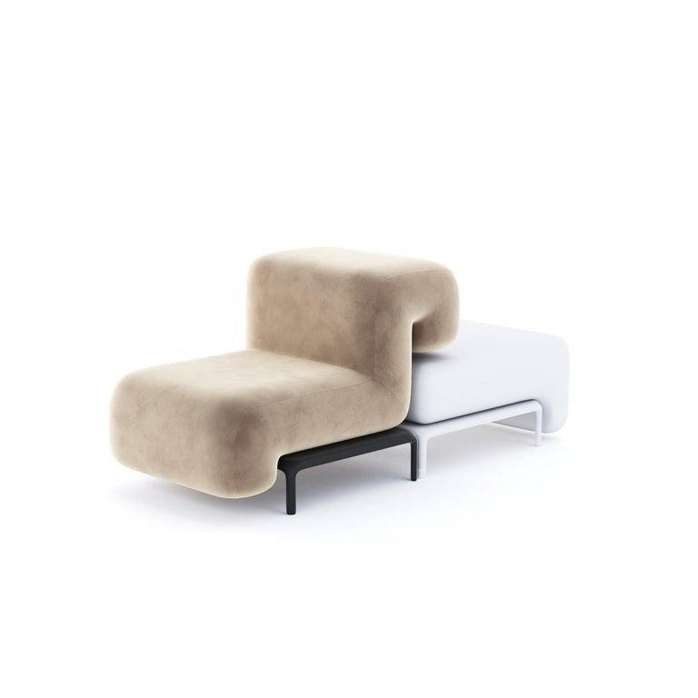 Modern Padun Sofa Module 8 by Faina For Sale