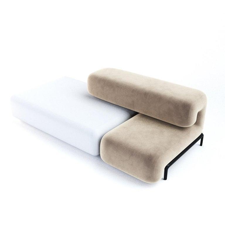 Textile Padun Sofa Module 8 by Faina For Sale