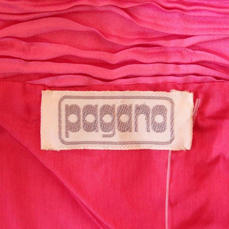 Pagano Porto Cervo  Plissé Vintage Bolero In Excellent Condition For Sale In Gazzaniga (BG), IT