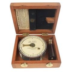 Paget Angular Sextant H. Hughes & Son Ltd London circa 1910 Mahogany Box