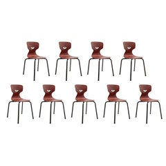 Pagholz Flötotto 1960s Stacking Chairs Set of Nine