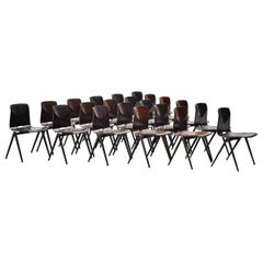 Pagholz Industrial Stacking Chairs Set of 22, Germany, 1970