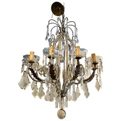 Pagoda Form Italian Beaded Chandelier
