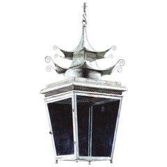 The Jamb Pagoda Lantern Small Georgian Chinnoiserie Hanging Light