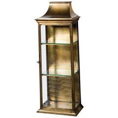 Pagoda Style Brass Vitrine