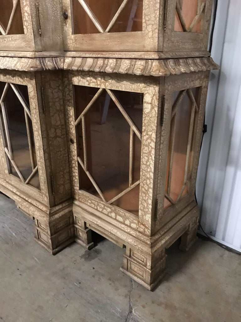 American Pagoda Style Cabinet by Trouvailles For Sale