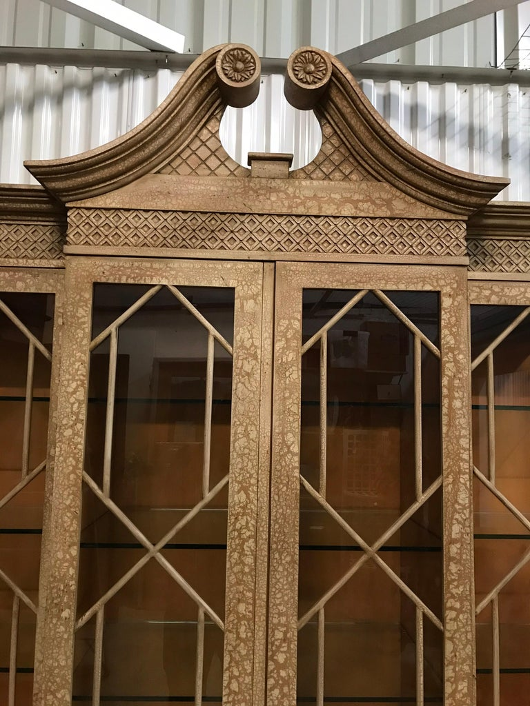 Pagoda Style Cabinet by Trouvailles For Sale 1