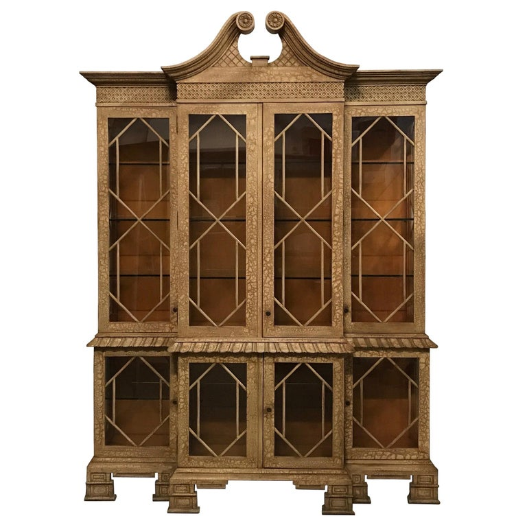 Pagoda Style Cabinet by Trouvailles For Sale