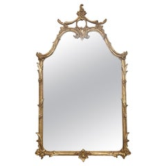 Pagoda Style Gilded Mirror by Decorative Arts Studio
