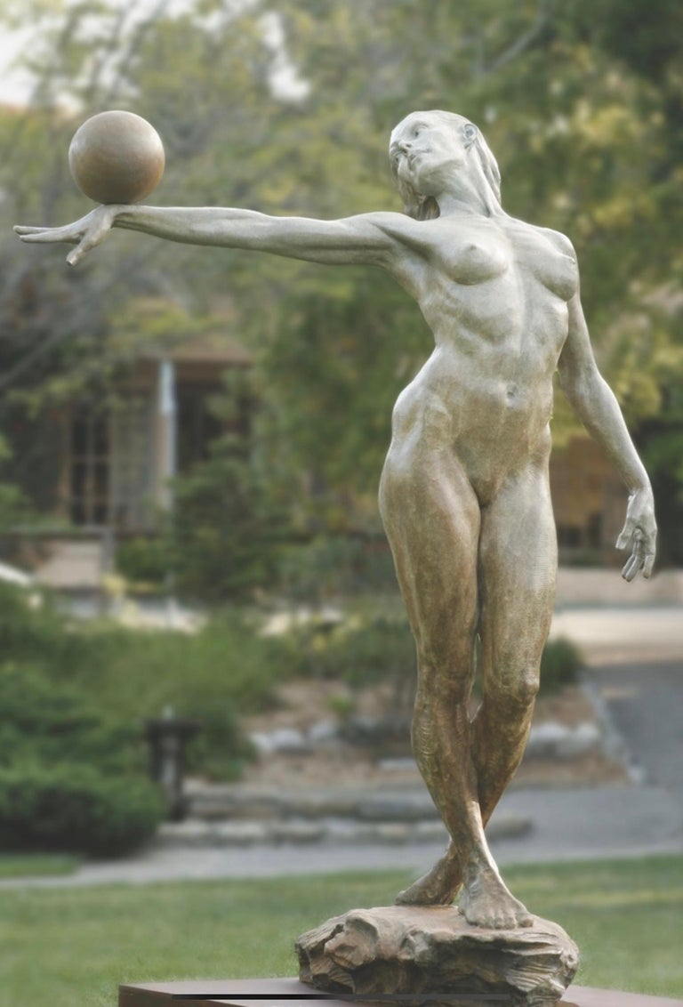 """BALANCE. Half Life. By Paige Bradley. Bronze. Signed and numbered. From an edition of 100. 44"""" H x 33"""" x 20"""".  Born in 1974 in Carmel, California PAIGE BRADLEY knew she would be an artist by the age of nine. Immersed in nature and art, Bradley's"""
