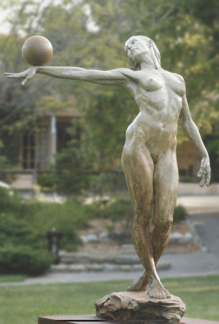 Paige Bradley Figurative Sculpture - Balance. Half Life.