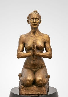 Intention (maquette) by Paige Bradley. Figurative bronze sculpture.