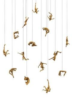 Vertigo Studies J by Paige Bradley. Bronze figurative sculpture.
