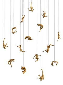Vertigo Studies K by Paige Bradley. Bronze figurative sculpture.
