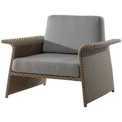 Paineiras Brazilian Contemporary Woven Fiber Outdoor Easy Chair by Lattoog