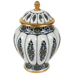 Paint Decorated Lidded Urn by Krautheim China