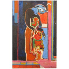 """Paint """"Maternity, 1983"""" by Pierre Courtens"""