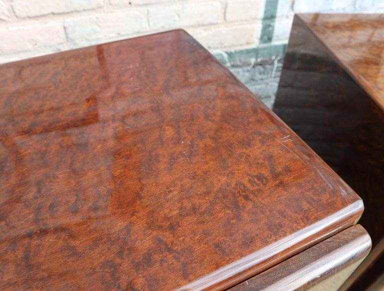Pair of Matching Milo Baughman Burl Wood Dressers for Thayer Coggin For Sale 7