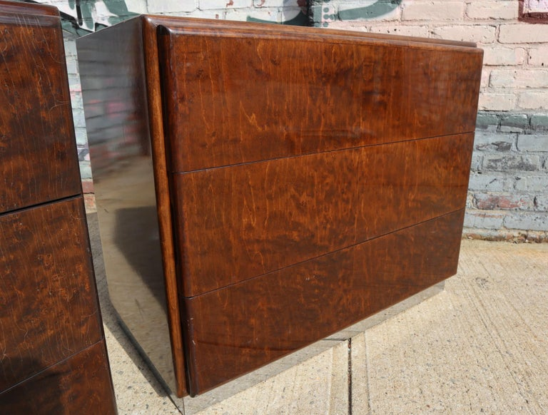 Pair of Matching Milo Baughman Burl Wood Dressers for Thayer Coggin For Sale 10