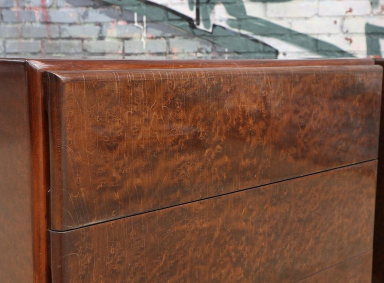 Pair of Matching Milo Baughman Burl Wood Dressers for Thayer Coggin For Sale 2