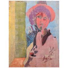 """Paint """"Personnage au chapeau"""" by Pierre Courtens"""