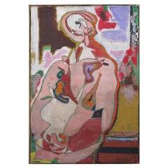 """Paint """"Personnage aux mains croisées"""" by Pierre Courtens"""