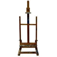 Paint Spattered Folding Table Top Easel