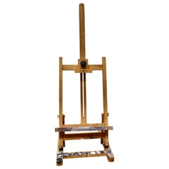 Paint Spattered Winsor and Newton Folding Table Top Easel