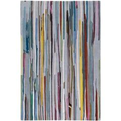 Paint Stripe Hand-Knotted 10x8 Rug in Wool by Paul Smith