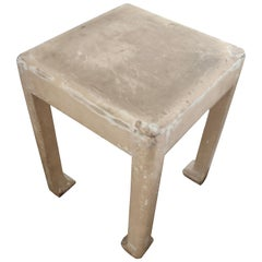 Paint Wood Side Table Attributed to Atelier Martine, France, 1925