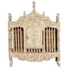 Painted 19th Century Panetiere from Provence, France