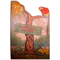 Painted Advertising Panel for Poll Parrot Shoes