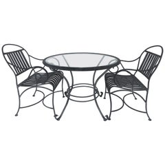 Painted Aluminum Garden Table and Chairs