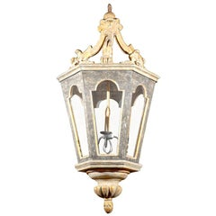 Painted and Giltwood Six Sided Lantern