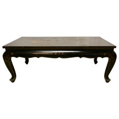 Painted and Lacquered Chinoiserie Coffee Table