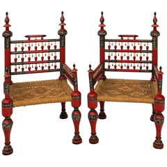 Painted Anglo-Indian Chairs
